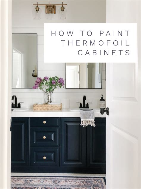 How to Paint Cabinets to Last Painting a Bathroom Vanity