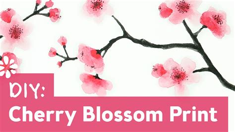 How to Paint Cherry Blossoms Sea Lemon YouTube