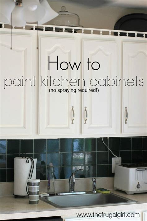 How to Paint Kitchen Cabinets The Frugal Girl