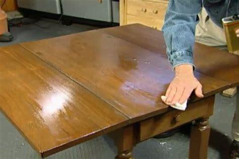 How to Refinish a Kitchen Table Ron Hazelton Online