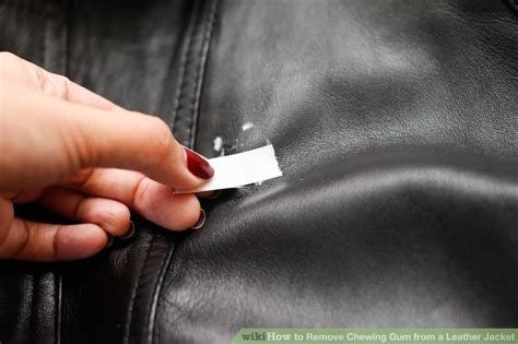 How to Remove Chewing Gum from a Leather Jacket 8 Steps