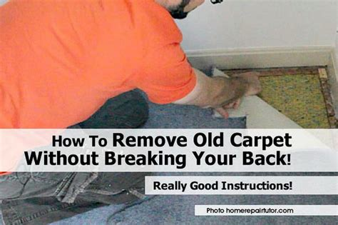 How to Remove Old Carpet without Breaking Your Back