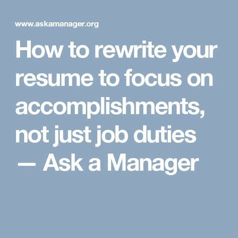 How to Rewrite Your Resume to Focus on Accomplishments