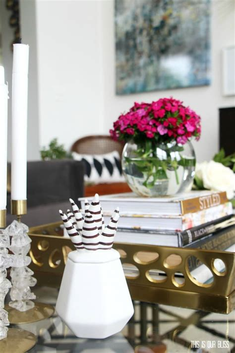 How to Style a Coffee Table Two Different Ways 1 table