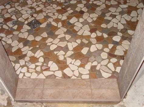 How to Tile a Shower Floor Using Pebble Tiles John Bridge