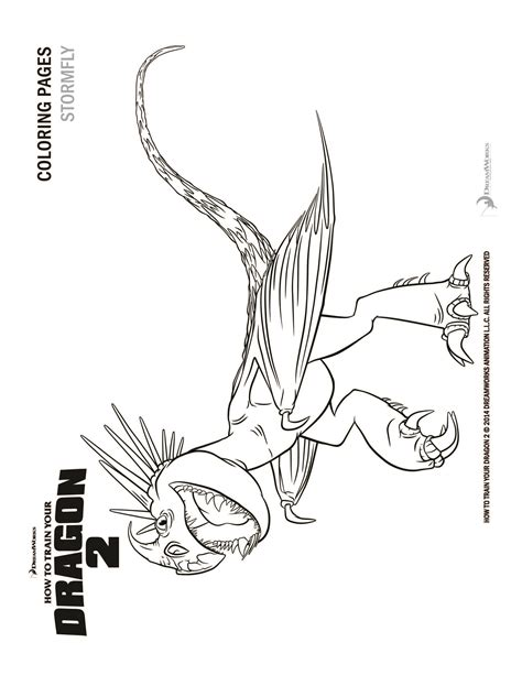 How to Train Your Dragon 2 Astrid and Stormfly coloring page