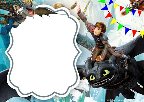 How to Train your Dragon Free Printable Invitations Is