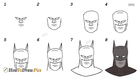 How to draw Batman Easy step by step drawing lessons for