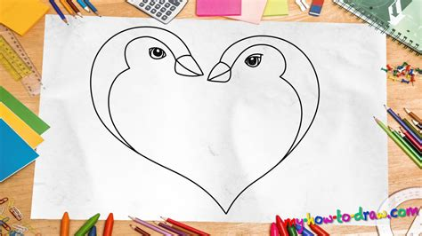 How to draw Cute Kittens with Love Hearts Easy step by
