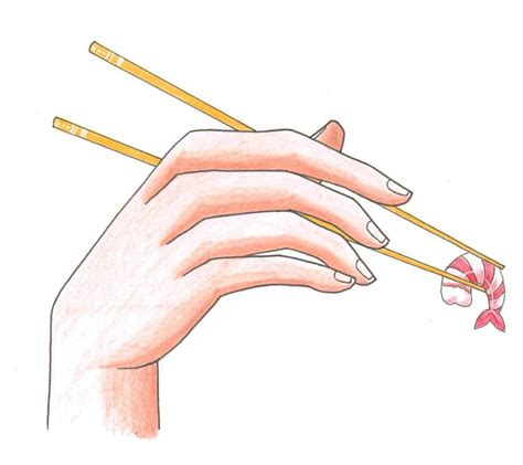 How to draw Hand with Chopsticks PaigeeWorld