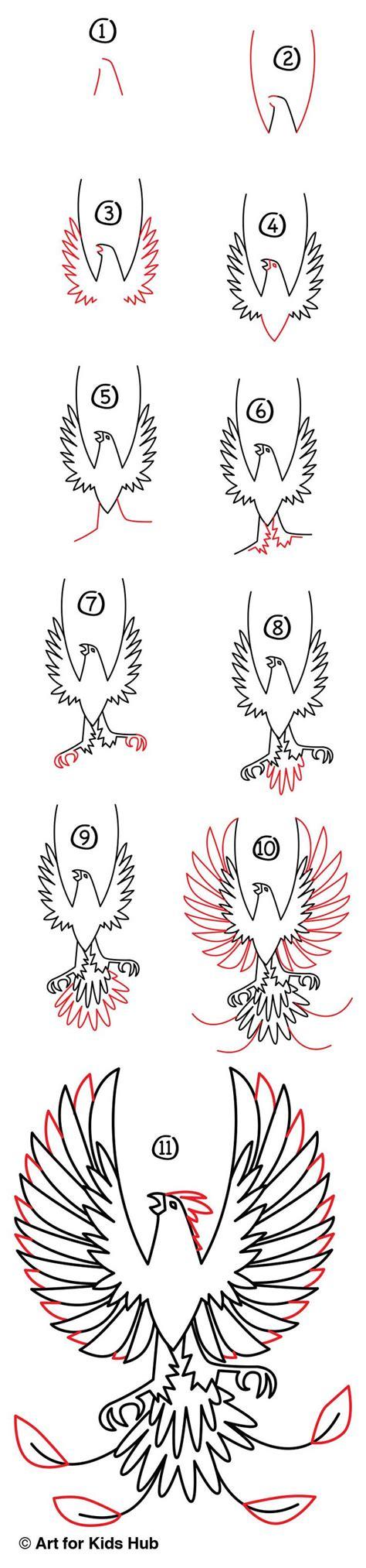 How to draw Phoenix step by step ARCMEL COM