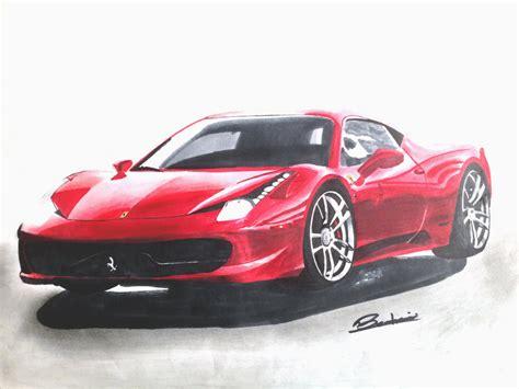 How to draw a Ferrari 458 Junior Car Designer