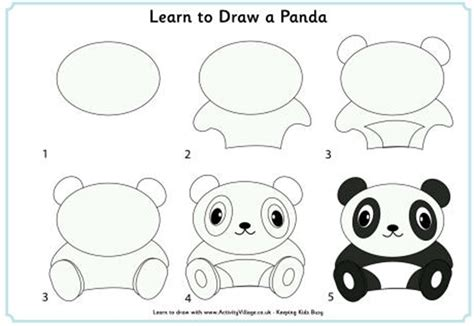 How to draw a Giant Panda Step by step Drawing tutorials