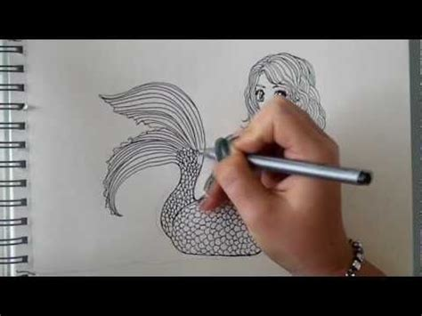 How to draw a Mermaid step by step requested Part 1