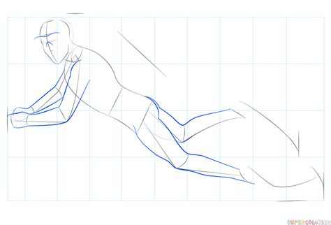 How to draw a scuba diver Step by step Drawing tutorials