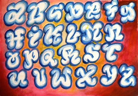 How to draw bubble letters Learn to draw Graffiti easy