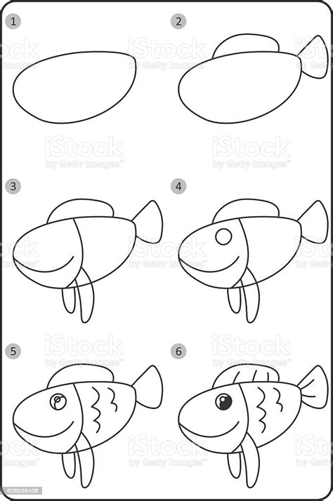 How to draw fish step by step animals with our FREE