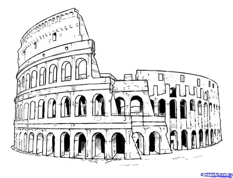 How to draw landmarks places step by step with our