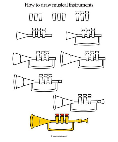 How to draw musical instruments step by step with our