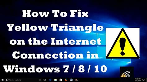 How to fix the yellow triangle on wireless connection My