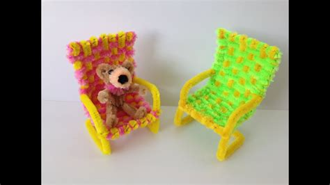 How to make a Pipe Cleaner Chair YouTube