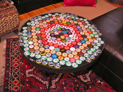 How to make a bottle cap table YouTube