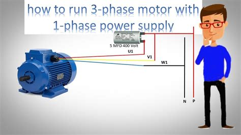 How to use three phase motor in single phase power supply