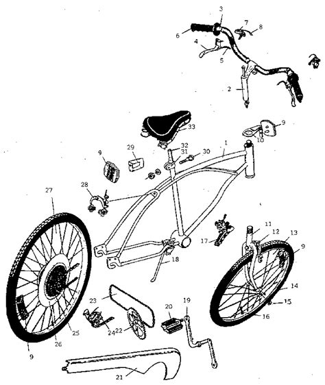Huffy Bicycle Replacement Parts Accessories Sears