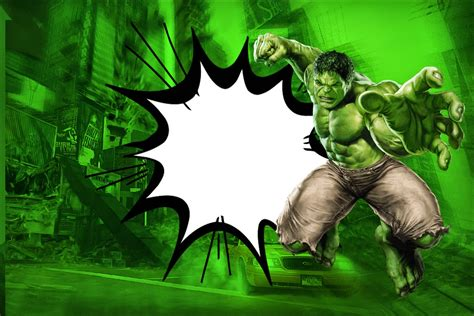 Hulk Free Printable Invitations Frames or Cards Oh My