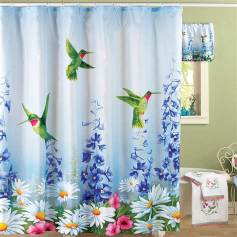 Hummingbird Bathroom Shower Curtain from Collections Etc