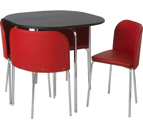 Hygena Amparo Dining Table and 4 Chairs White Argos