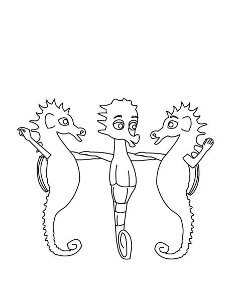 I Sea Horses Coloring Pages I Sea Horses kids club