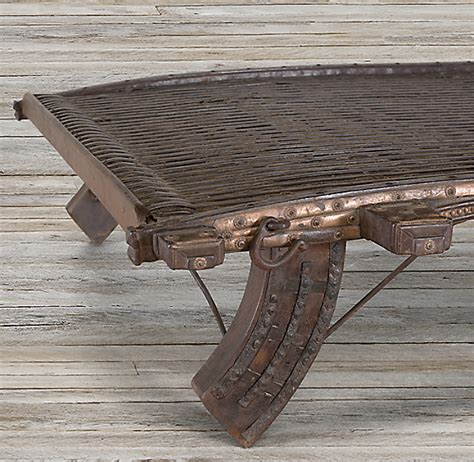 INDIAN SOLID OX CART COFFEE TABLE on The Hunt