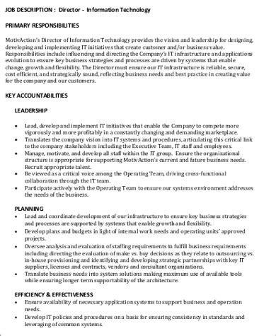 IT Director Job Description Buzzle