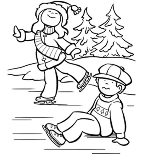 Ice Skating Coloring Page Free Online Coloring Pages