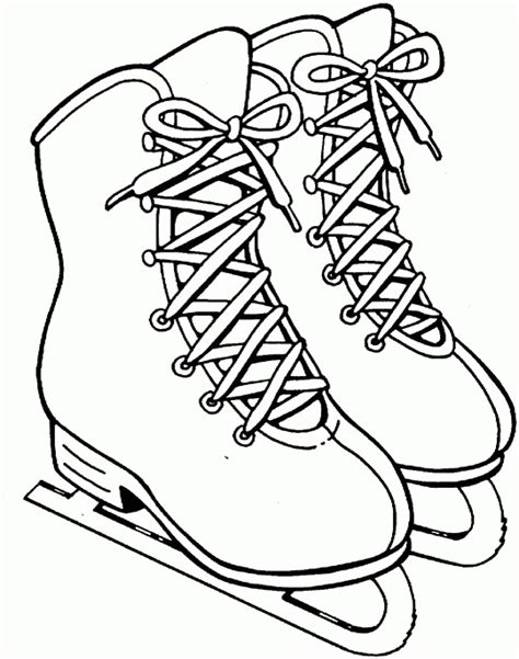 Ice skates Free Printable Coloring Pages SheKnows