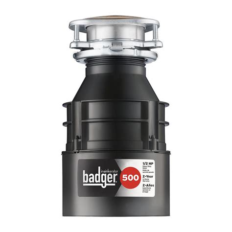InSinkErator Badger 500 1 2 HP Continuous Feed Garbage