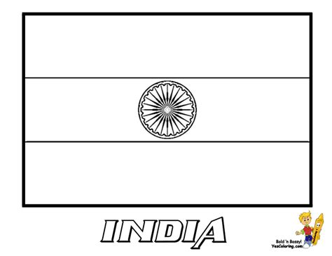 India Flag coloring page Free Printable Coloring Pages