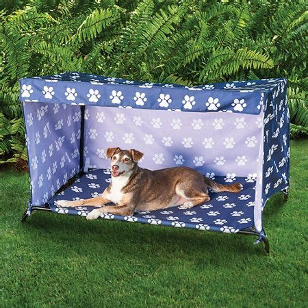Indoor Outdoor Dog Bed Canopy Cover and Shade Frame