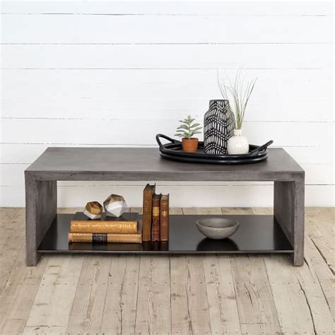 Industrial Concrete Coffee Table west elm