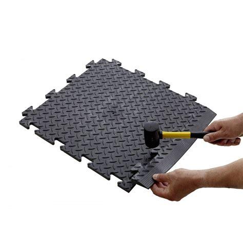 Industrial Interlocking Vinyl Floor Tiles Mats
