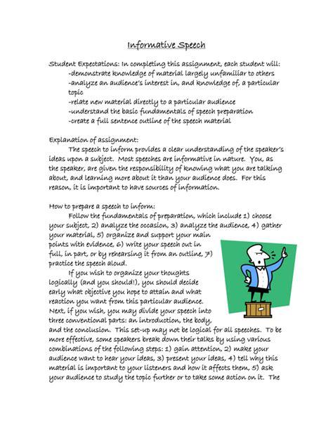 Informative Speech Sample Essay