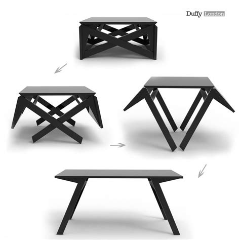 Ingenious Transforming Table Coffee or Dining RV Mods