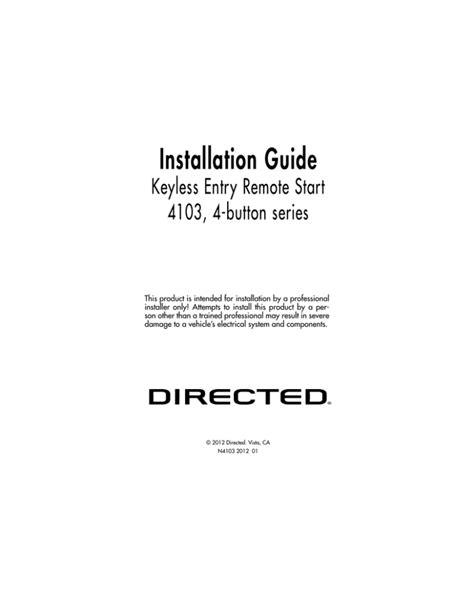 Installation Guide directeddealers