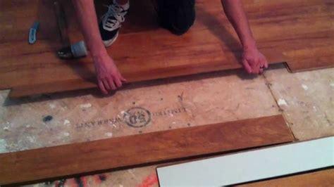 Installing Laminate Flooring over wood subfloor on top of
