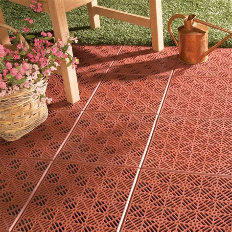 Interlocking Patio Tile Flooring 6 pc from Collections Etc