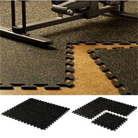 Interlocking rubber floor tiles and rubber floor mats