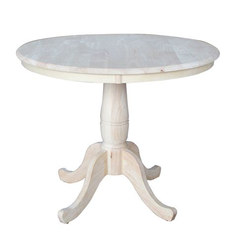 International Concepts 36 Inch Round Extension Dining