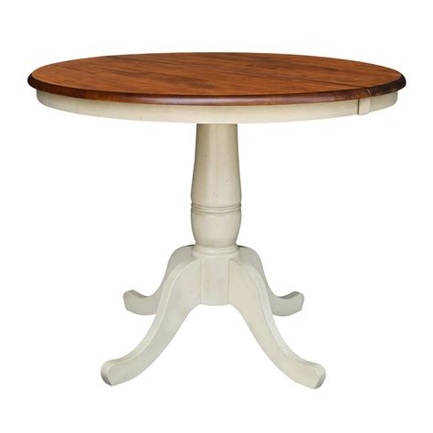 International Concepts Round Top Pedestal Table 36 Inch