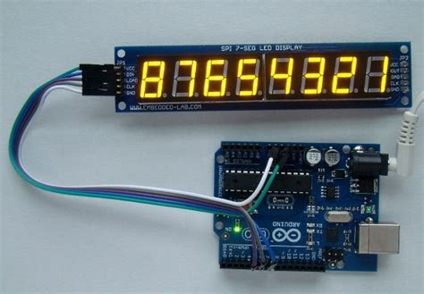 Introducing a new serial SPI 8 digit seven segment LED